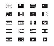World Flag icons on white background. Vector illustration. Set of World Flags vector icons on white background. USA, United Kingdom, European Union. Vector Royalty Free Stock Photography