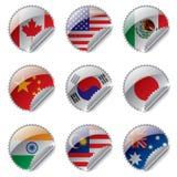 World flag labels Stock Images