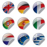 World flag labels Royalty Free Stock Photography