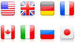 World flag series  World flag series G8 countries. Original vector illustration: World flag series G8 countries Stock Photo