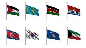 World Flag Set 12 Stock Photos