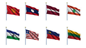 World Flag Set 13 Stock Photos