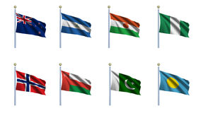 World Flag Set 17 Royalty Free Stock Images