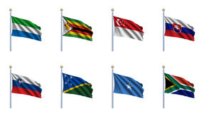 World Flag Set 21 Royalty Free Stock Photography