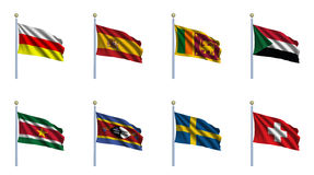World Flag Set 22 Stock Image