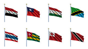 World Flag Set 23 Stock Photography