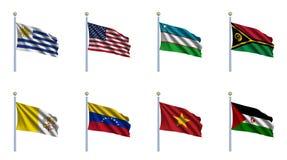 World Flag Set 25 Royalty Free Stock Photos