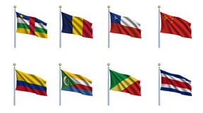 World Flag Set 5 Royalty Free Stock Photos