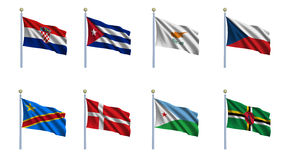 World Flag Set 6 Stock Images