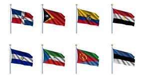 World Flag Set 7 Stock Photography