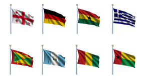 World Flag Set 9 Royalty Free Stock Images