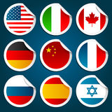 World Flag Stickers Stock Photo