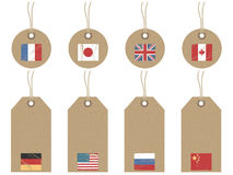 World flag tags Royalty Free Stock Photo
