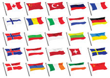 World Flags. Illustrations of various country flags Stock Image