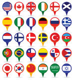 World Flags. Set of various flags from all over the world Stock Photography