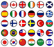 World Flags. Set of various world flags Royalty Free Stock Image