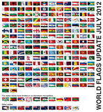 World flags Royalty Free Stock Photography