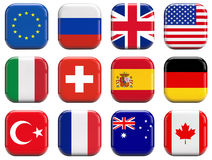 Free World Flags Royalty Free Stock Images - 44137159