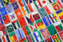 World Flags. A wall with world flags Stock Photos