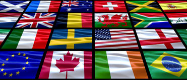 World Flags. Various group of flags from around the world Royalty Free Stock Photography