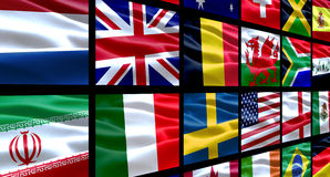 World Flags. Various group of flags from around the world Stock Photos
