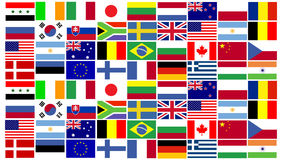 World Flags. A Montage of World Flags Stock Image