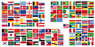 World  flags Royalty Free Stock Images