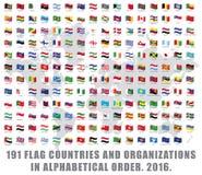 World flags all Stock Photos