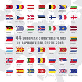 World flags all. Set of wave buttons with European countries flags Royalty Free Stock Image