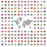 World flags all Royalty Free Stock Photography