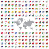 World flags all Stock Images