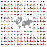 World flags all stock illustration