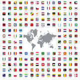 World flags all Stock Photo