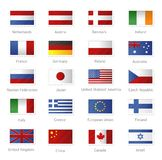 World flags as stamps Stock Photos
