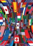 World Flags Backdrop. Political Vector Background stock illustration