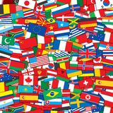 World Flags Background. EPS10 Vector Template Royalty Free Stock Images