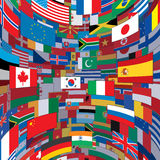 World Flags Background Stock Photography