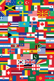 World flags backround. Vector illustration Stock Photography