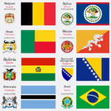 World flags and capitals set 3 Stock Image