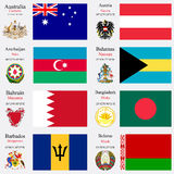 World flags and capitals set 2 Stock Images