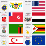 World flags and capitals set 27 vector illustration