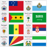 World flags and capitals set 21 Royalty Free Stock Images