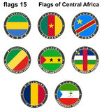 World flags. Central Africa. Royalty Free Stock Image