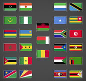 World flags collection, Africa, part 2 Stock Photos