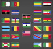World flags collection, Africa, part 1 Royalty Free Stock Photos