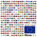 World Flags Collection - All Sovereign States Set in Vector Royalty Free Stock Photo