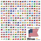 World Flags Collection - All Sovereign States Set in Vector Stock Photo