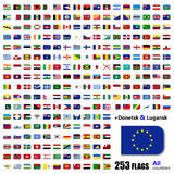 World Flags Collection - All Sovereign States Set in Vector Stock Photos