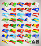 World Flags Collection from A to B Stock Photography