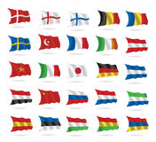 World flags collection on white royalty free illustration